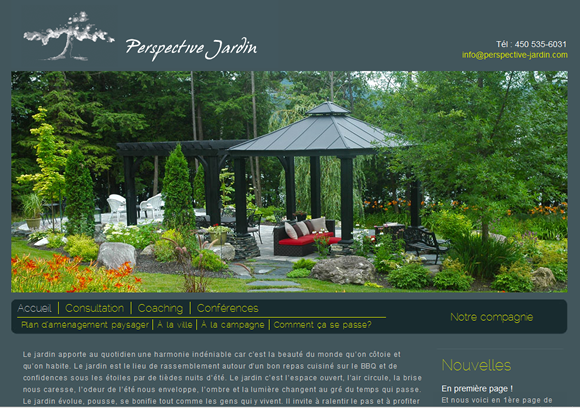 Conception site web perspective jardin